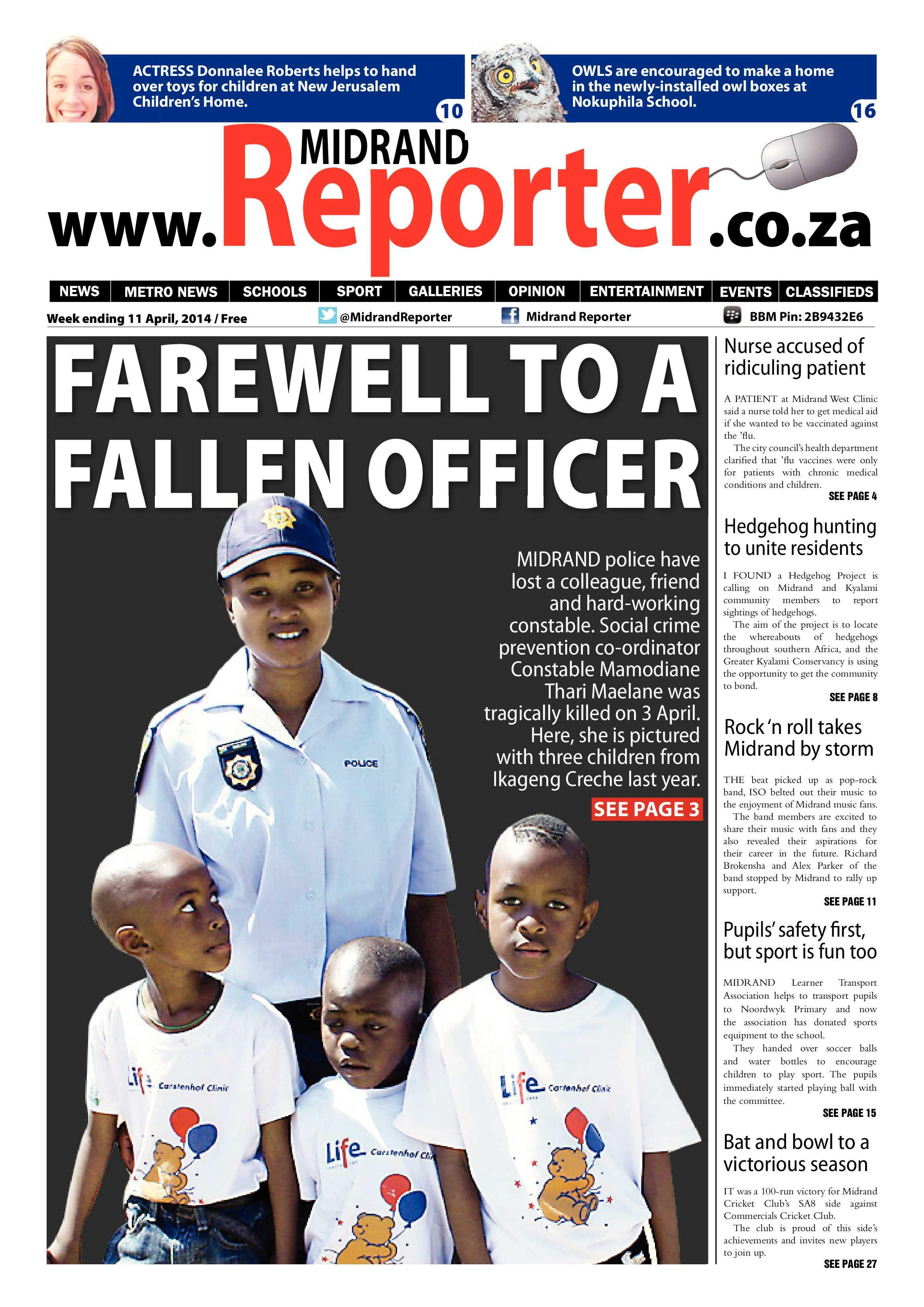 Midrand Reporter 11 April 2014 | Midrand Reporter