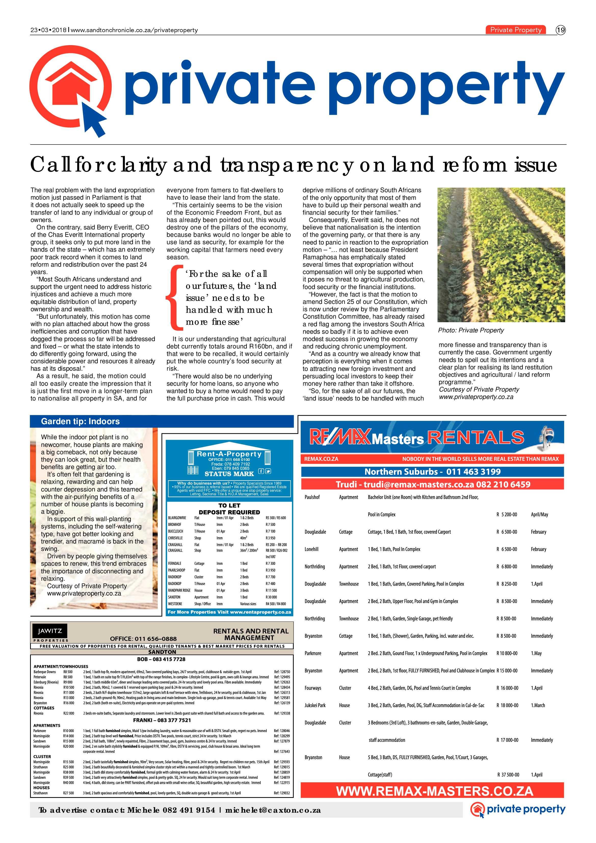 Sandton Chronicle 23 March 2018 | Sandton Chronicle